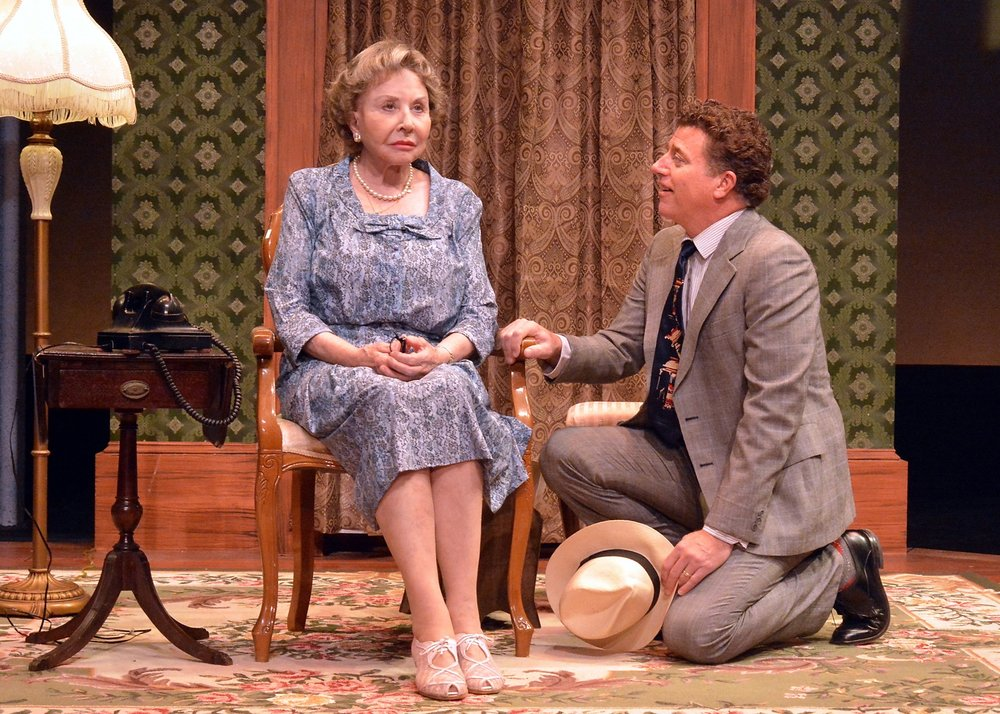 Michael Learned (Daisy) and David Nevell (Boolie) in Driving Miss Daisy.