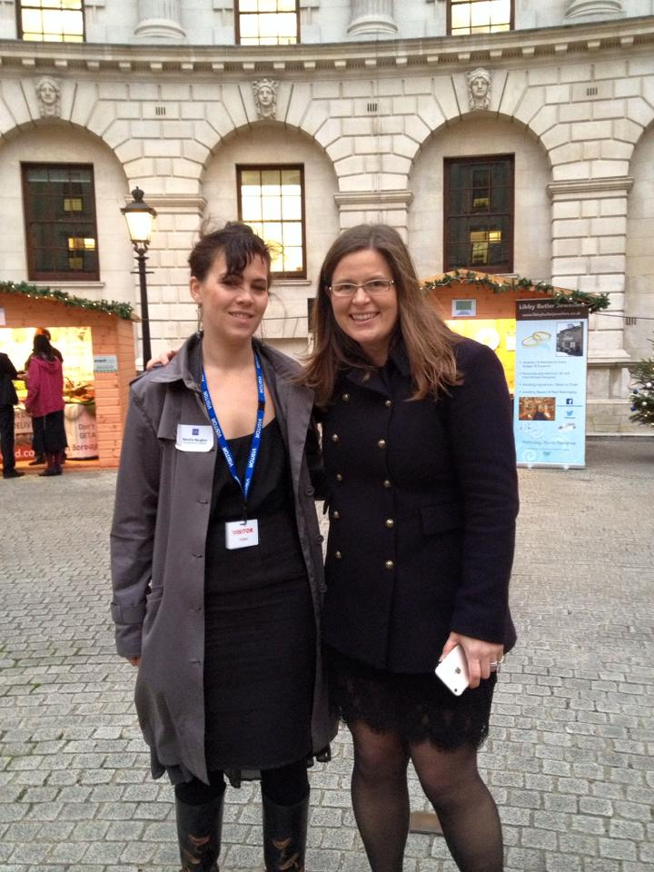 Tallie with Michelle Ovens MBE, the pioneer behind Small Business Saturday UK.