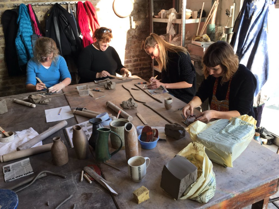 Hey Clay for the Crafts Council and BBC Get Creative. On Friday the 4th December we ran a couple of free coiling workshops with Ben Sutton to give new students the chance to get their hands in clay.
