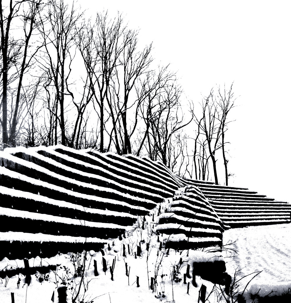 Retaining Wall B&W