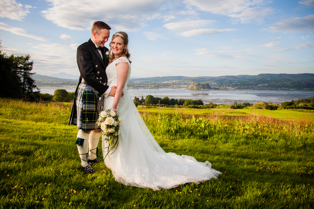Ailie and Richard Tweedie during their reception at Gleddoch House