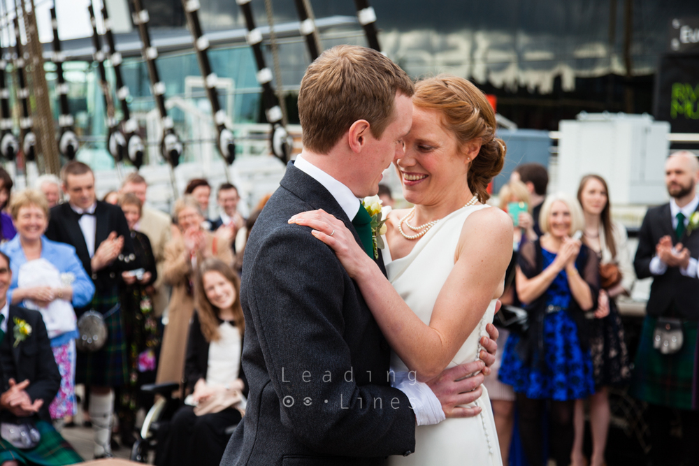 Ruth and Scott Williamson - getting married on the Tall Ship in Glasgow