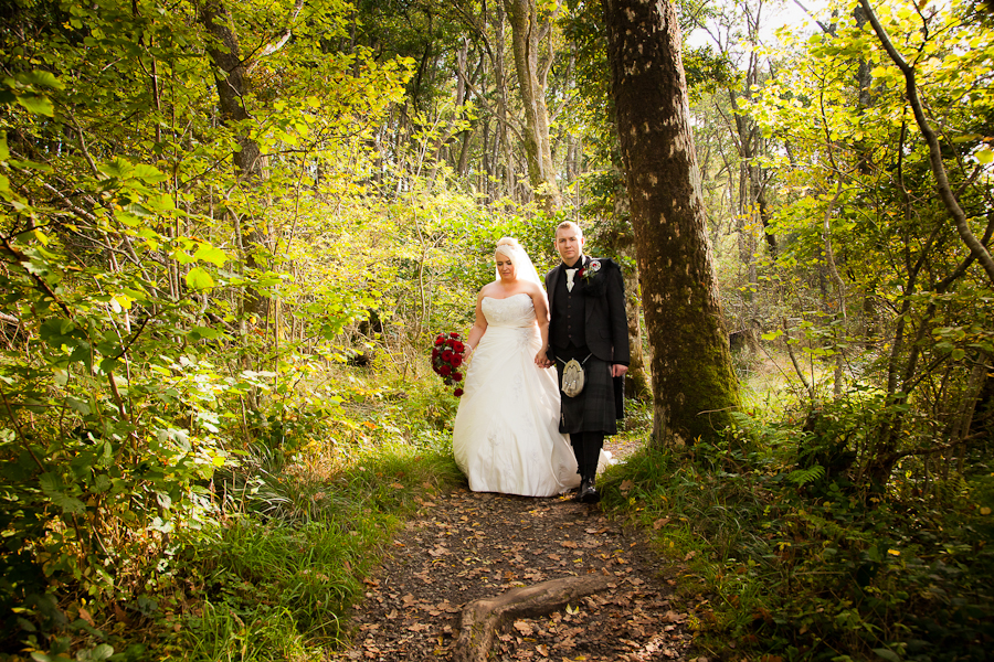 Richard and Amanda Bolt - wedding photographs at Loch Lomond