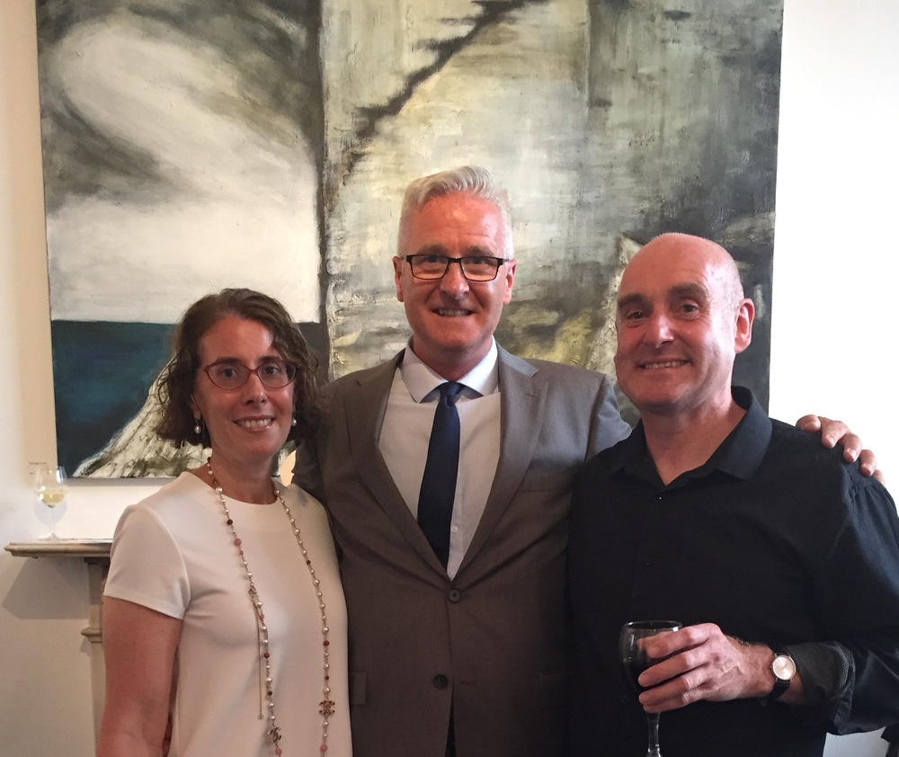 With Laura Barnes and Niall O Donnchu, 'Atlantic Watch' behind.