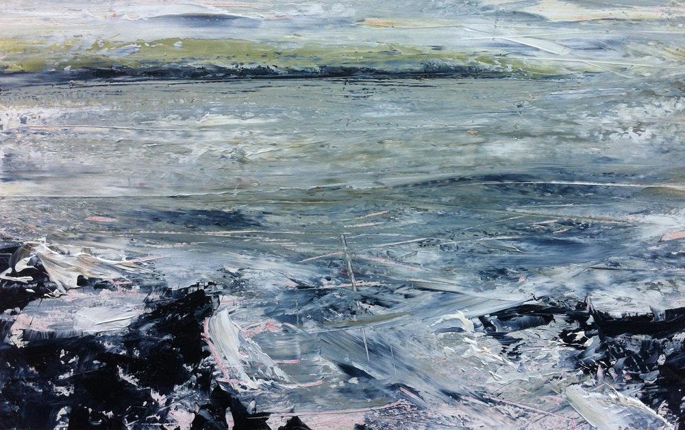 Oil sketch - Crewe Bay series, 2015