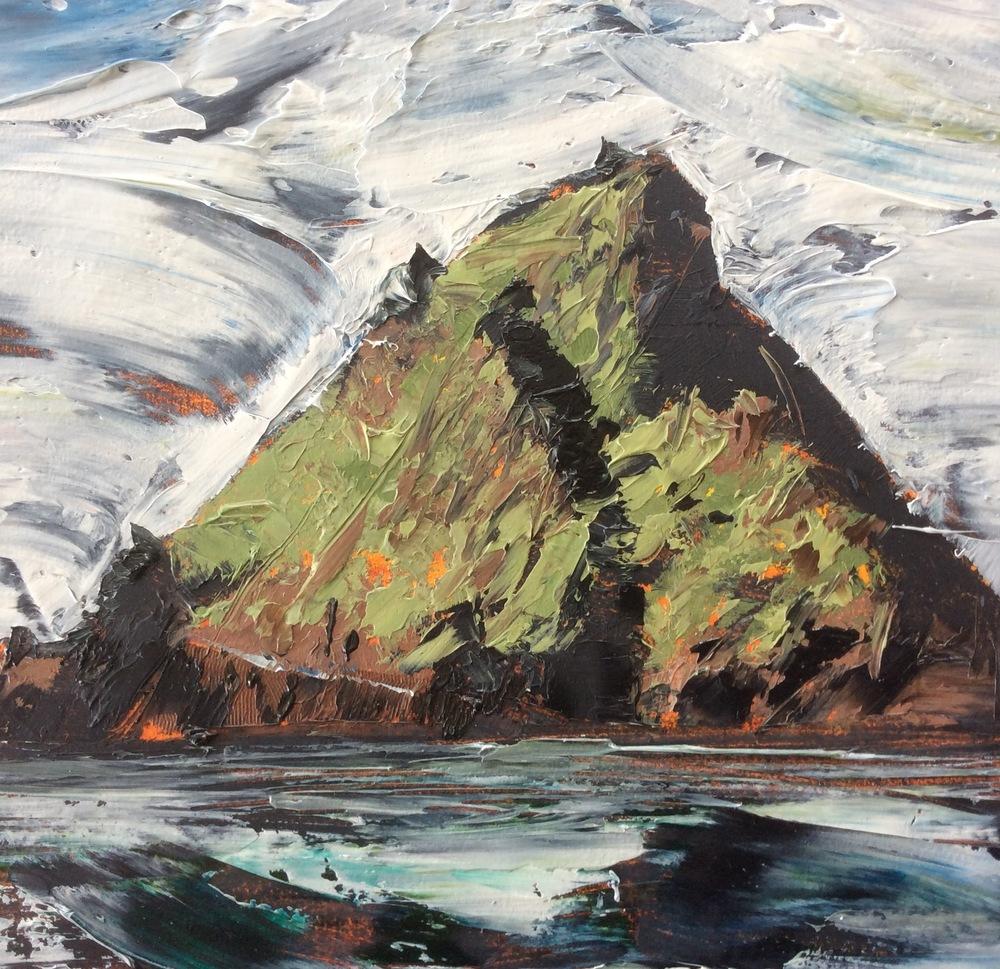 Oil sketch - Skellig Michael series, 2015