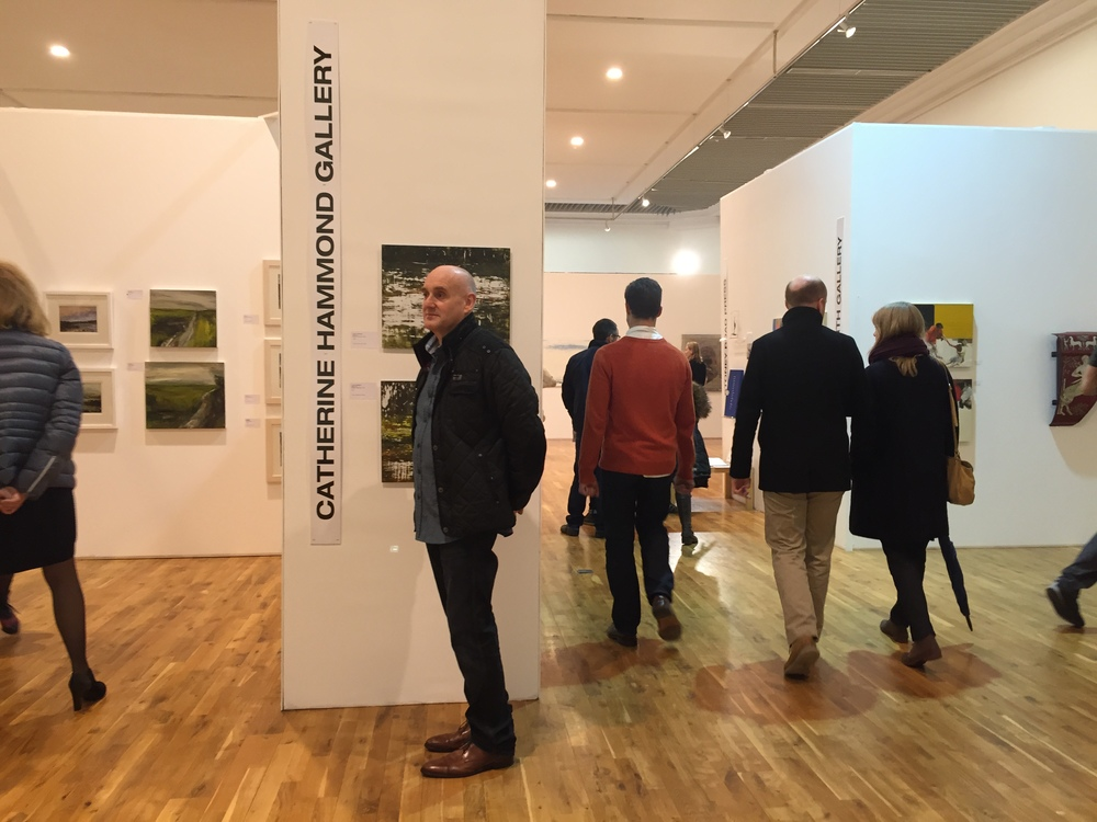 Visiting the Catherine Hammond Gallery stand.