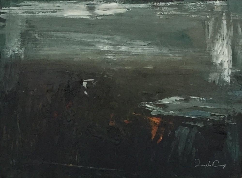 Kildreelig Watch l , Skelligs Series, oil on board, 23cm x 30cm, 2015