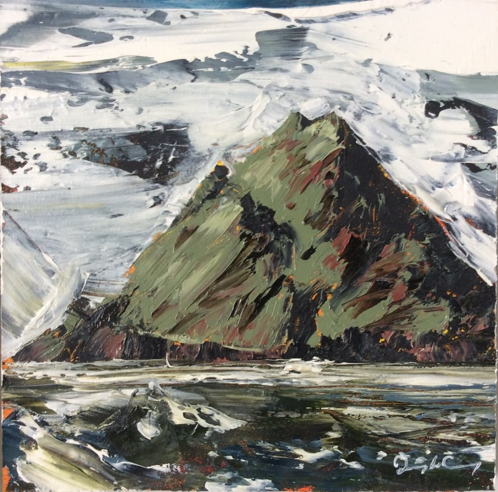 Skellig Michael l , oil on board, 14cm x 14cm, 2015