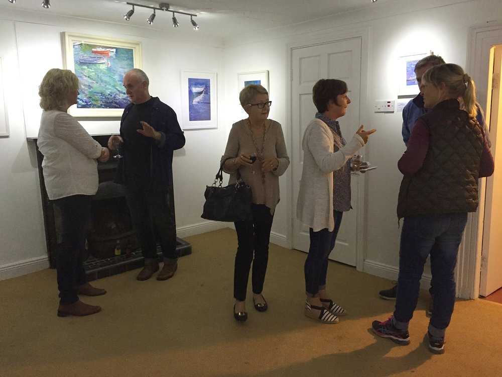 At the opening of From Sea To Sky at The Aisling Gallery