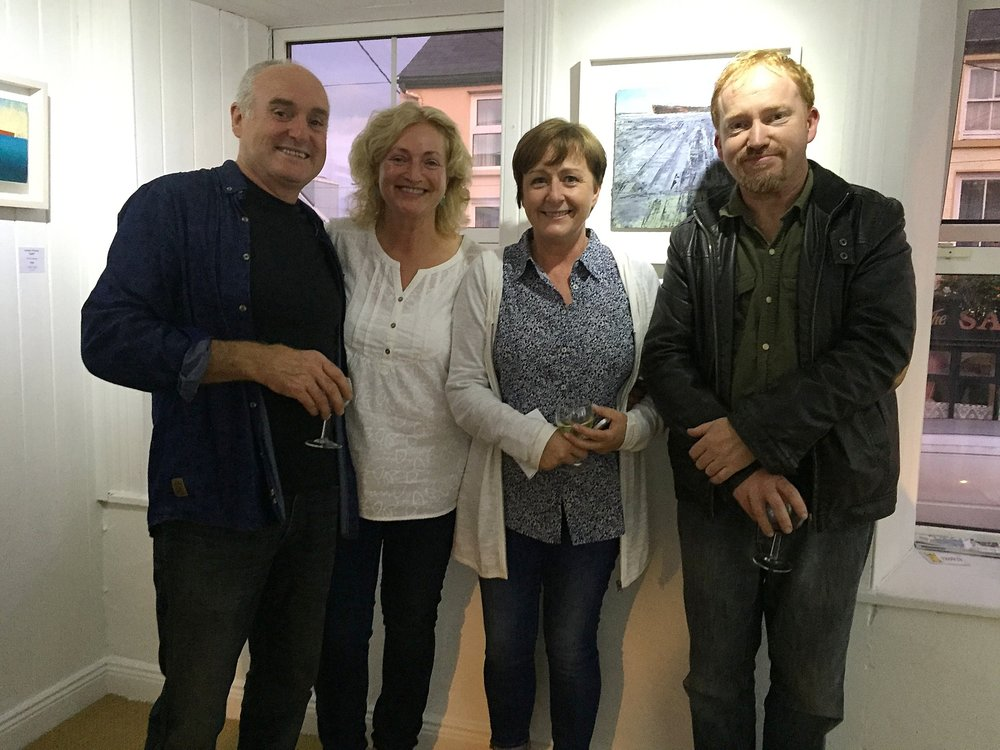 Donagh with artists Fiona Power, Helen O'Keeffe and Cormac O'Leary