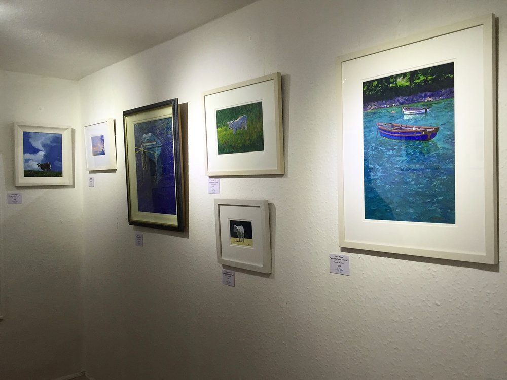 A selection of Fiona's paintings showing at The Aisling Gallery