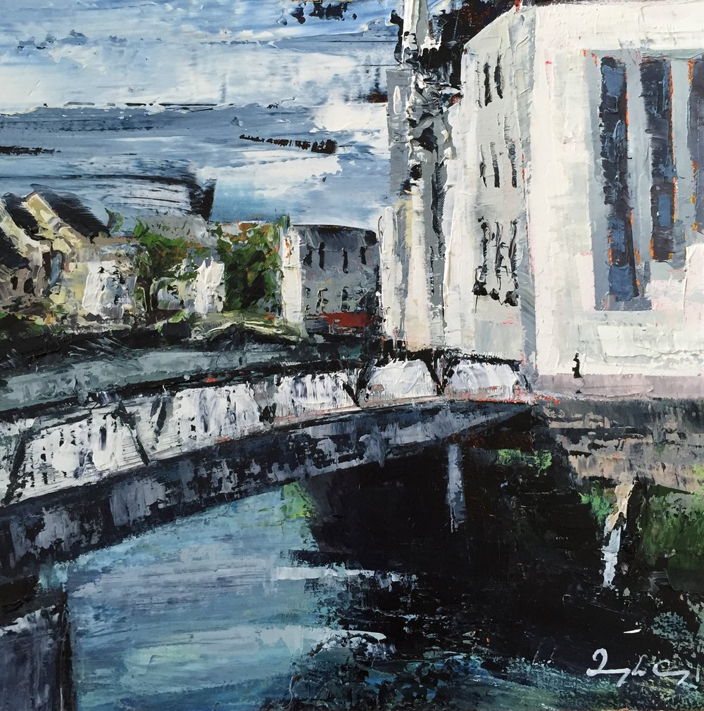 Cork College of Commerce  Oil on board, Painting 15cm x 15cm, Frame 40cm x 40cm €295