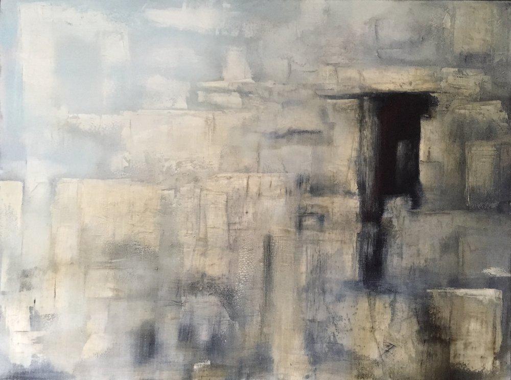 Epoch, Skellig V  Oil on canvas. Painting 76cm x 101cm. Frame 83cm x 109cm. €nfs