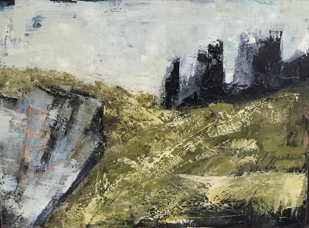 Flank  oil on board, painting 22cm x 30cm, frame 41cm x 49cm, €595