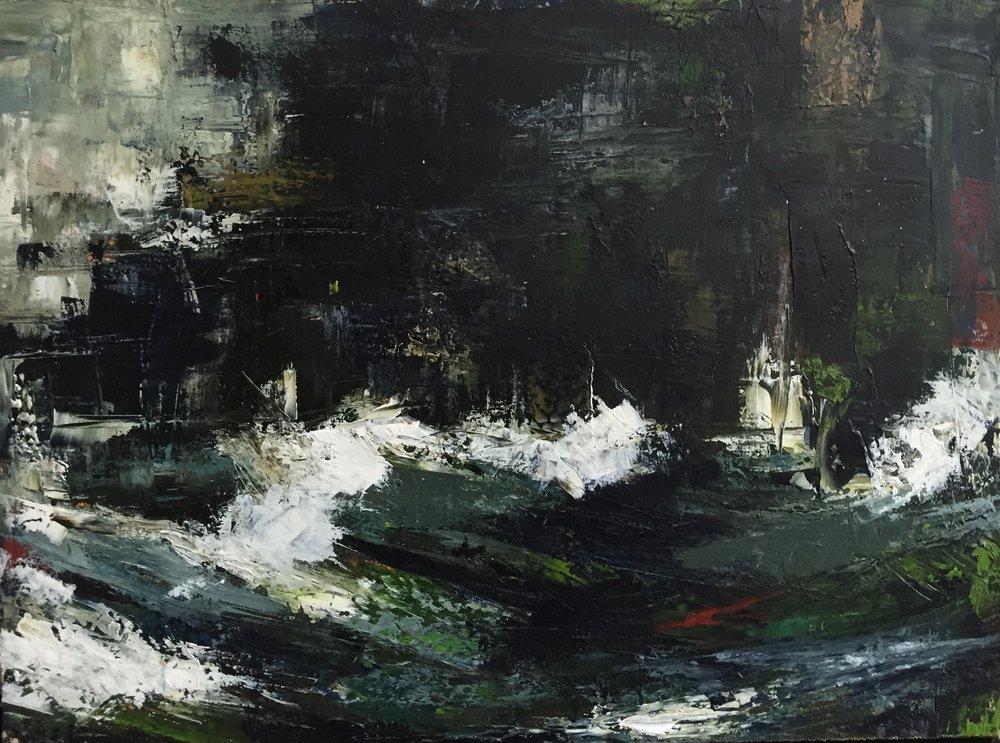 Dunlough Bay  oil on board, painting 22cm x 30cm, frame 41cm x 49cm, €595
