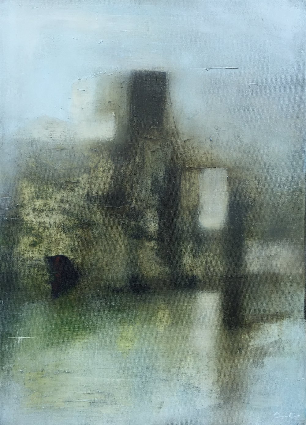 Fort of the Lake  oil on canvas, painting 70cm x 50cm, frame 75cm x 55cm, €sold