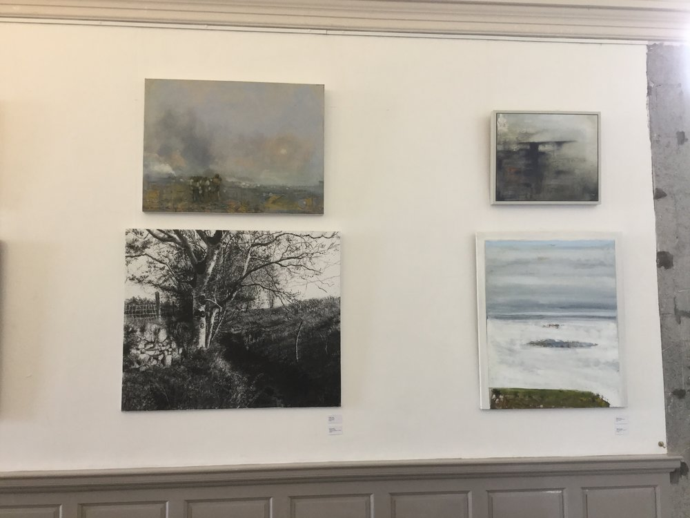 Donagh's painting  Refuge, Epoch ll  in situ