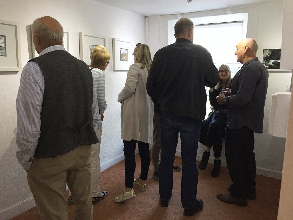 Friends, visitors and collectors at the opening night