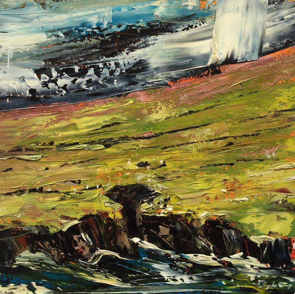 Ballinskelligs Coast lll  Painting 15cm x 15cm. Frame 40cm x 40cm. Oil on board.  €295