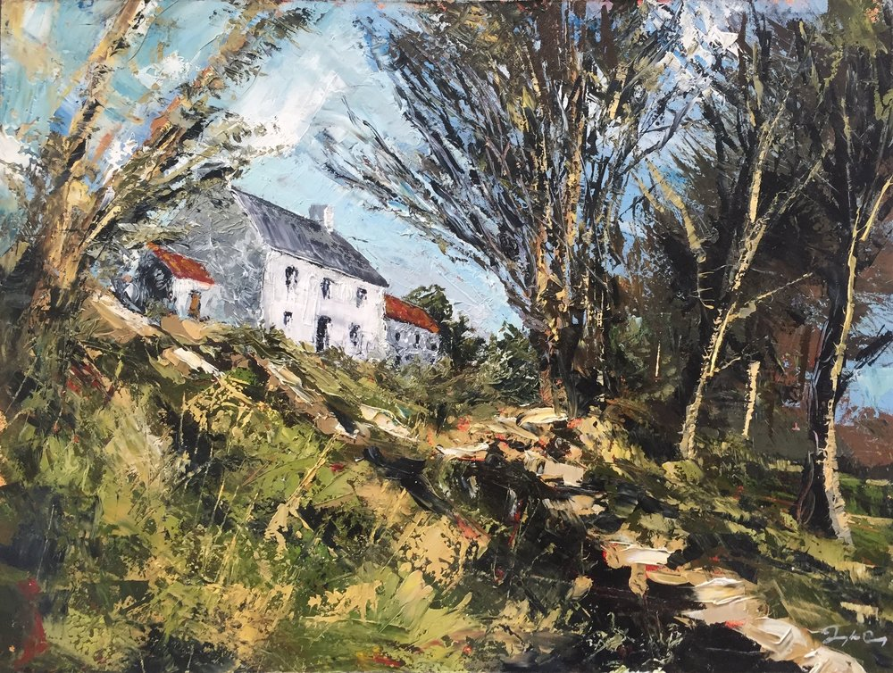 Pat's Homeplace  Painting 23cm x 30cm.  Oil on board.