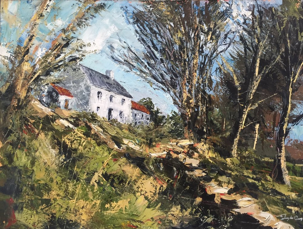 Pat's Homeplace , oil on board.