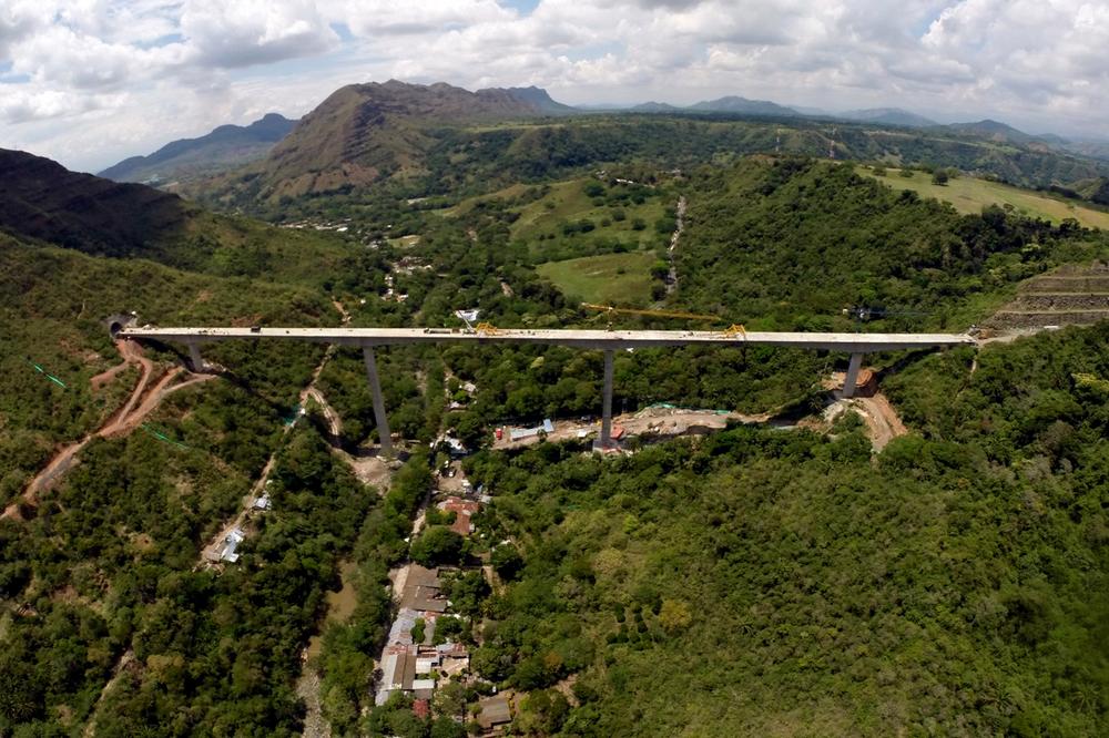 Viaducto Gualanday, Concesión San Rafael. Gualanday, Tolima