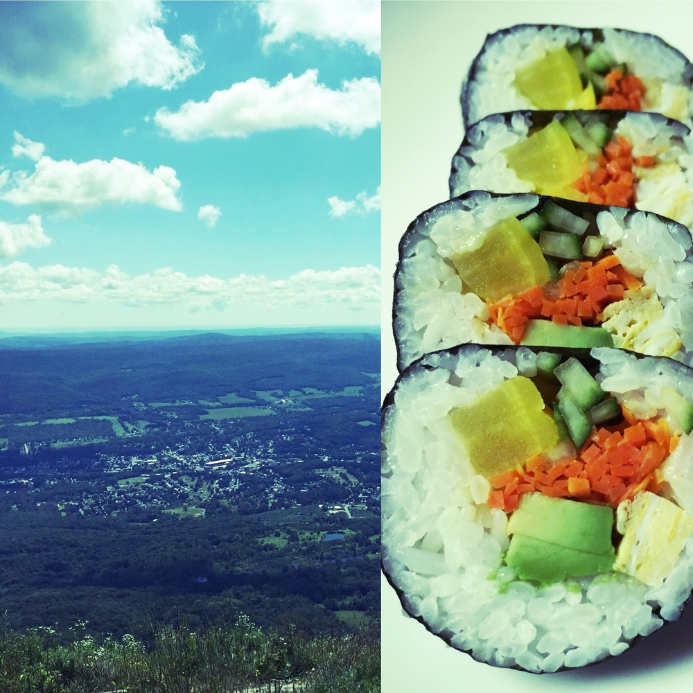 Ahh... hiking always makes me look for Kimbap