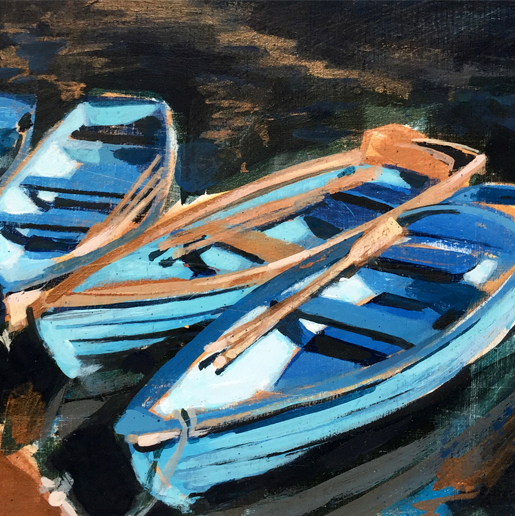Blue Boats by Camilla Dowse