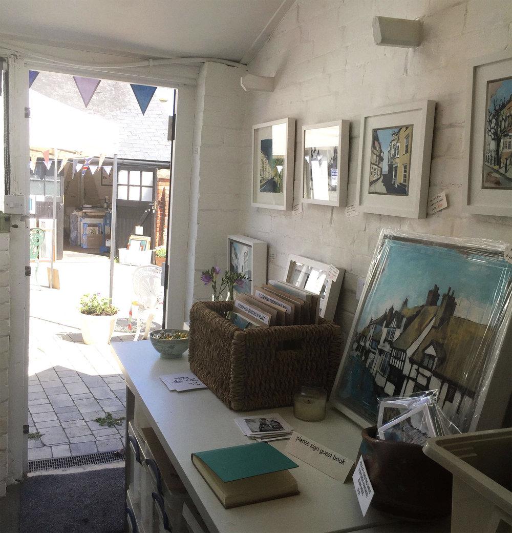 Camilla's Studio just before opening!