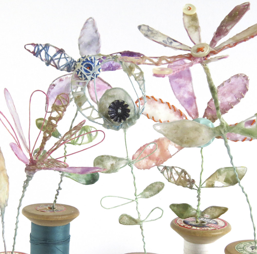 Flower sculptures by Priscilla Edwards