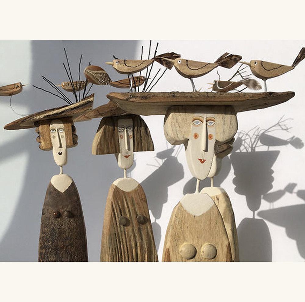 Wood sculptures by Lynn Muir
