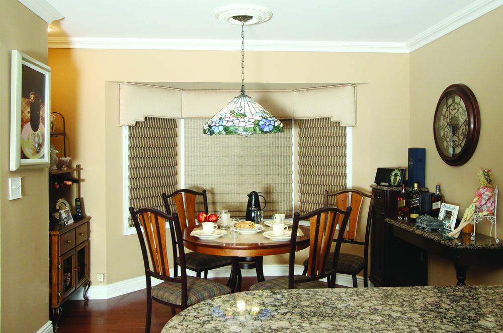 Eat in kitchen is a cozy spot for the single homeowner.