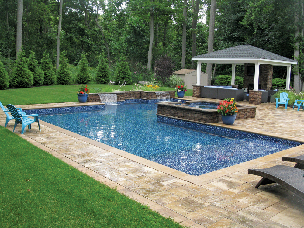True Blue Swimming Pools  -  Gold , Vinyl Traditional