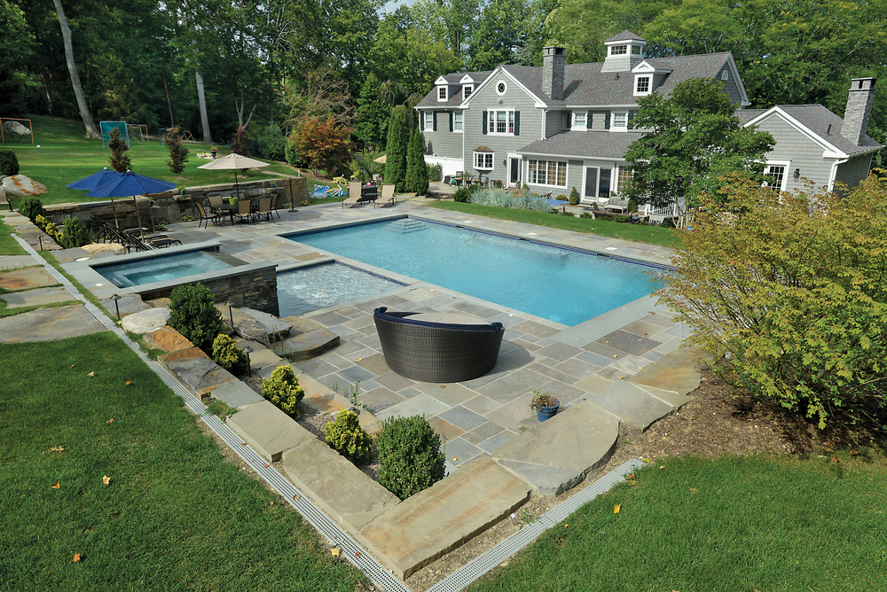Swimming Pools by Jack Anthony - Bronze, Pool/Spa Combo Gunite
