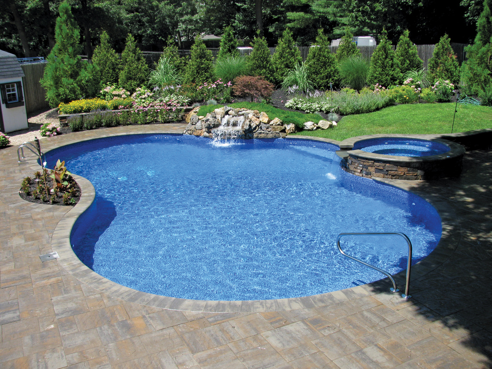 True Blue Swimming Pools  -  Silver , Pool/Spa Combo Vinyl