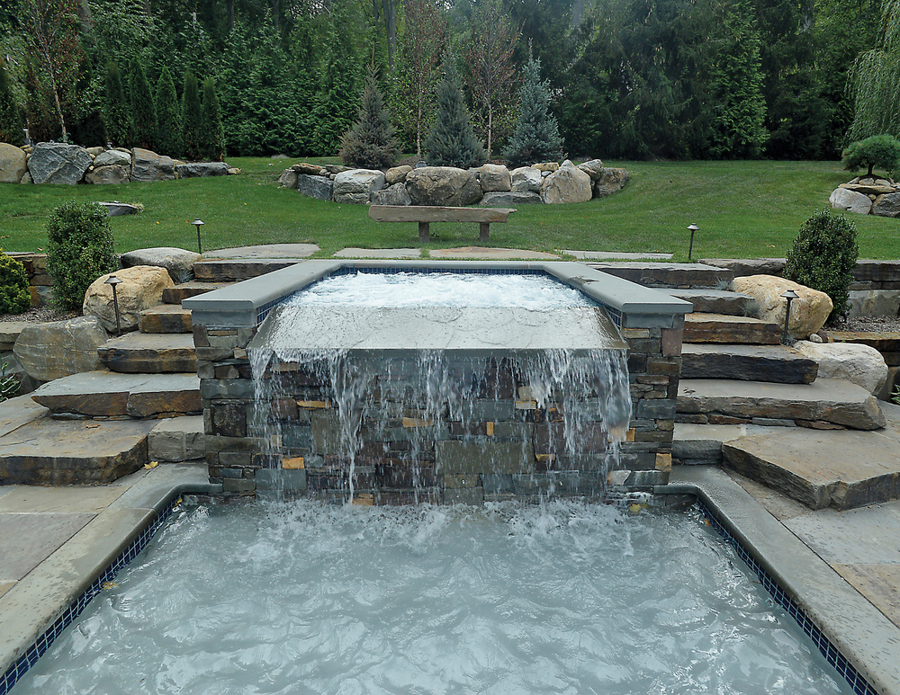 Swimming Pools by Jack Anthony  -  Silver , Custom Spa with Pool