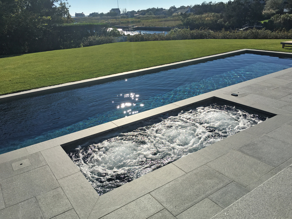 Pelican Pools  -  Bronze , Custom Spa with Pool