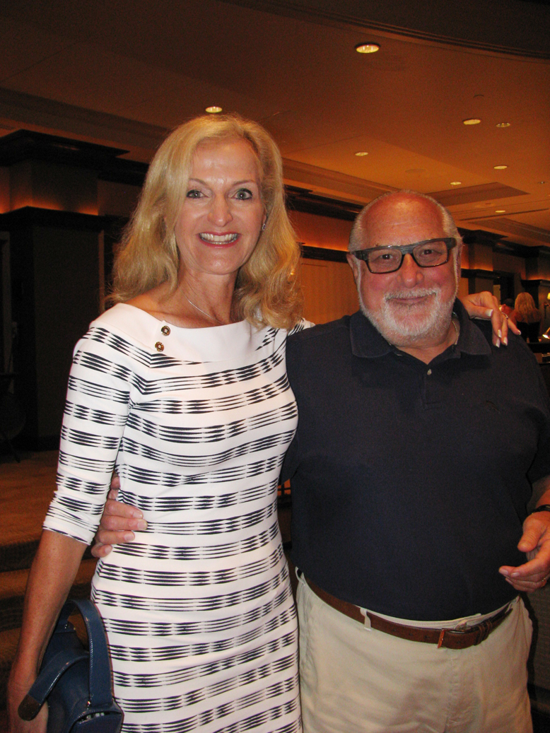 Ann Liguori, WLIU/WFAN radio personality and author with Stuart Gleiber, board president, Head Injury Association