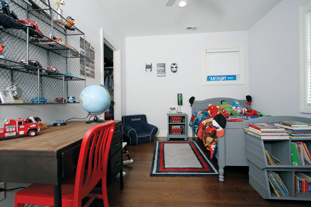 A place to play, work and dream, one little boy's personal space.
