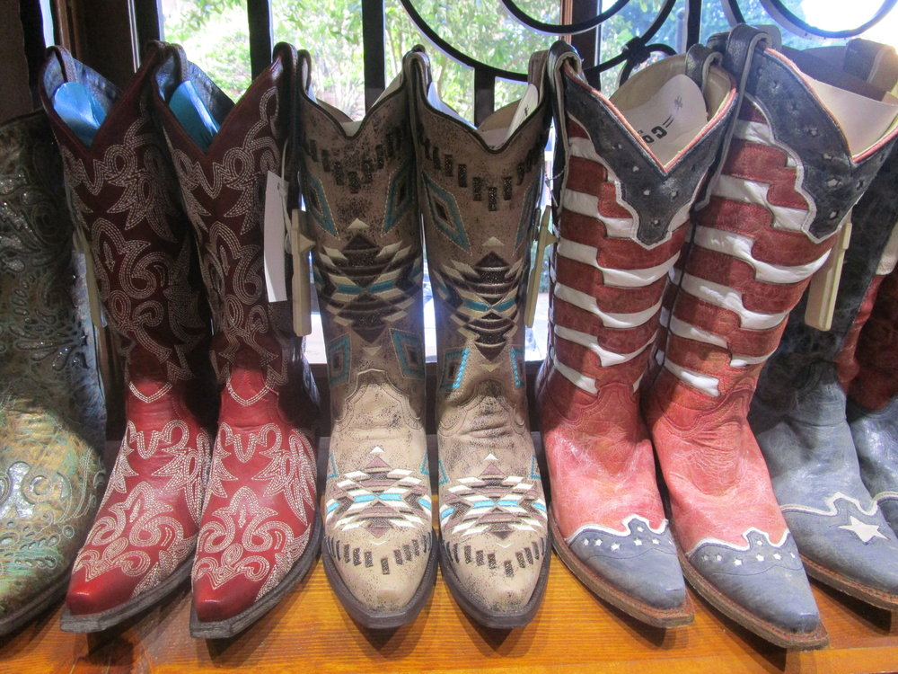 Impressive cowboy boot selection at Wild Bill's