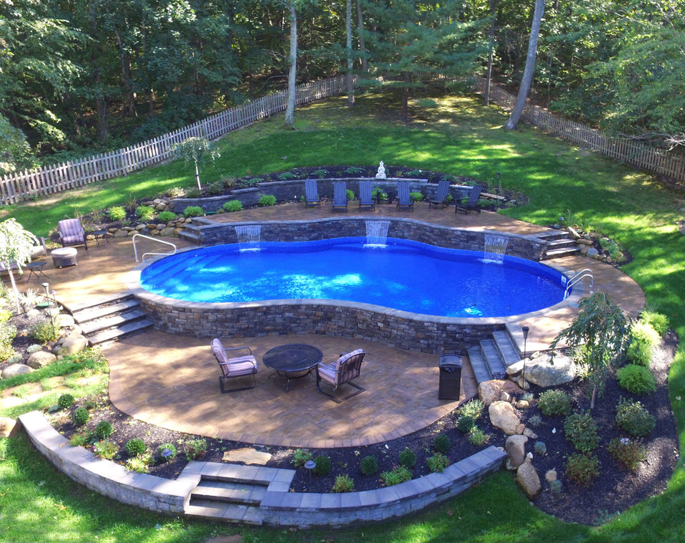 Silver - Vinyl Freeform True Blue Swimming Pools