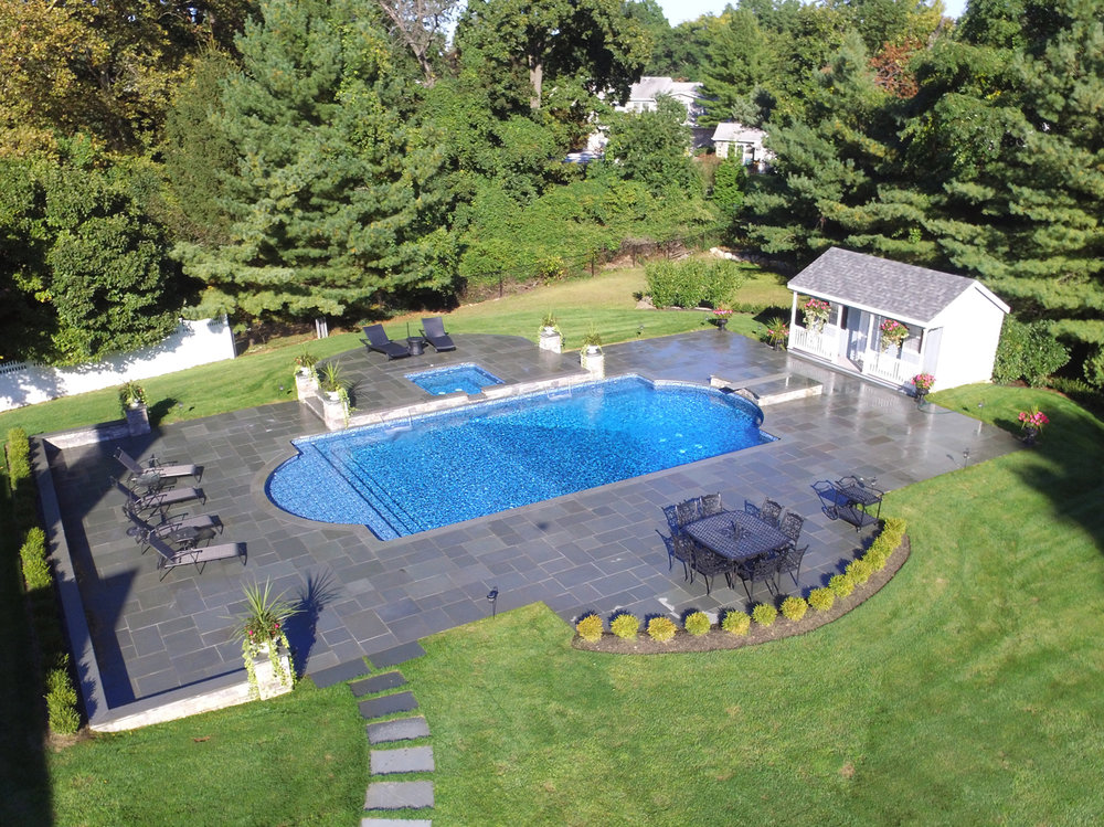Silver - Pool/Spa Combo Vinyl True Blue Swimming Pools