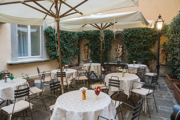 An inviting Capari on the patio before dining at San Michele.jpg