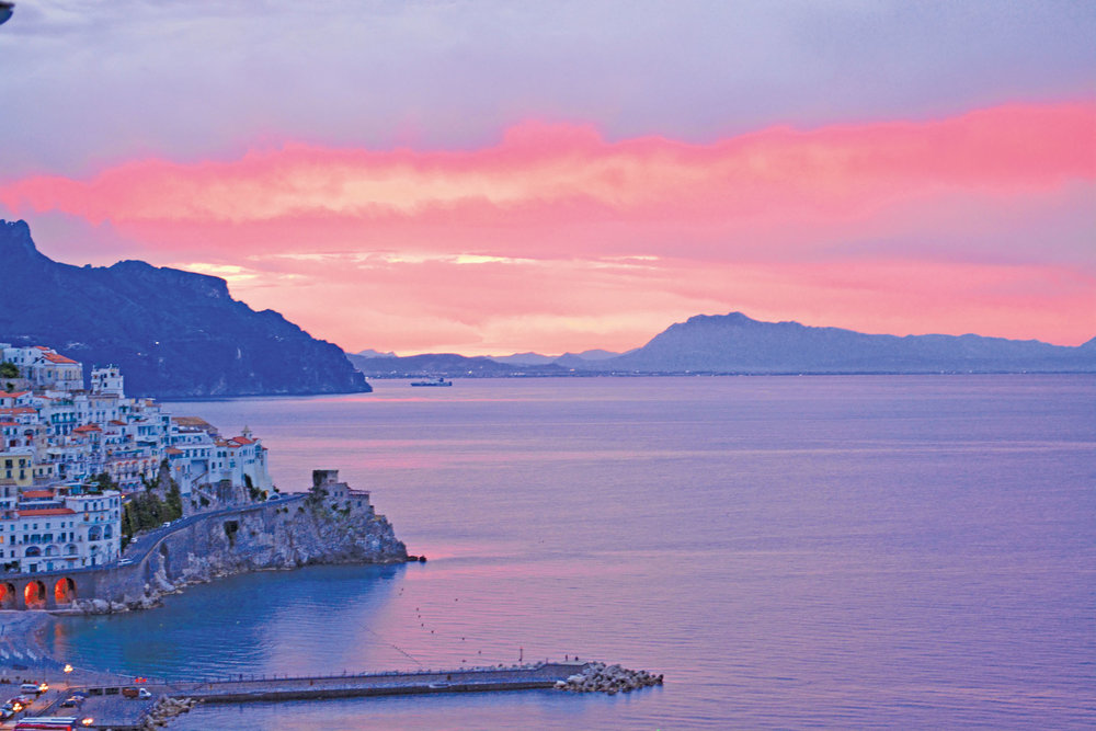 An unforgettable sunrise over Amalfi