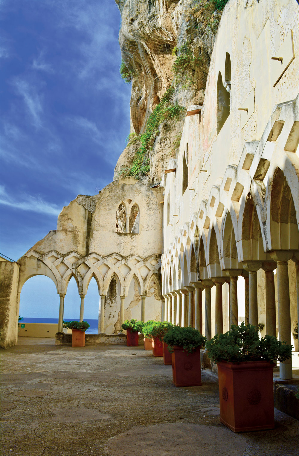 Thirteenth century cloister at Grand Hotel Convento di Amalfi.