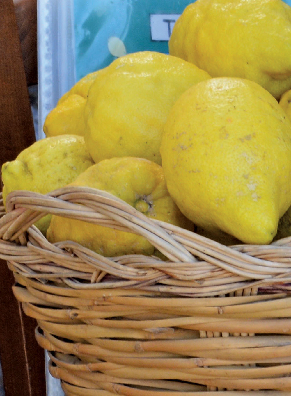 Local lemons for fresh lemonade in Nocello.