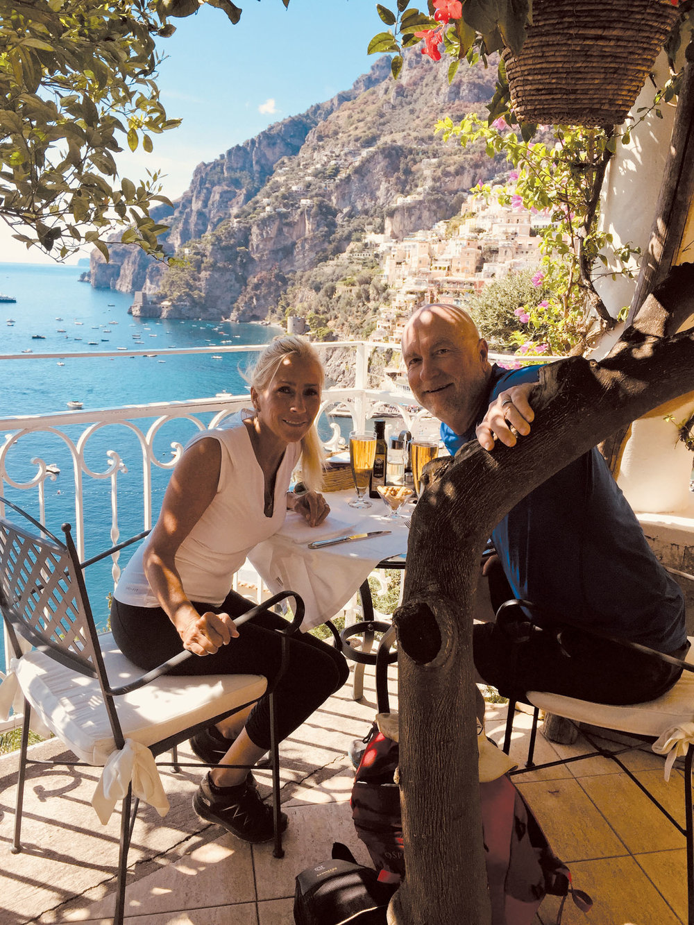 Positano and Peronis post hike.