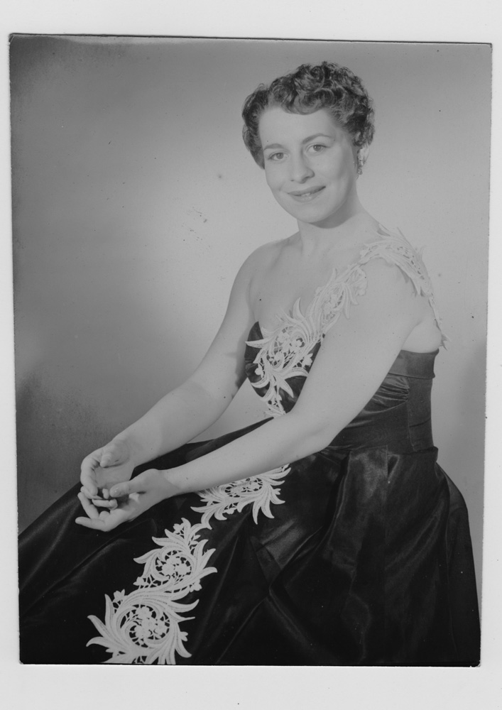Photo of the Client's Mother which was inspiration for her dress