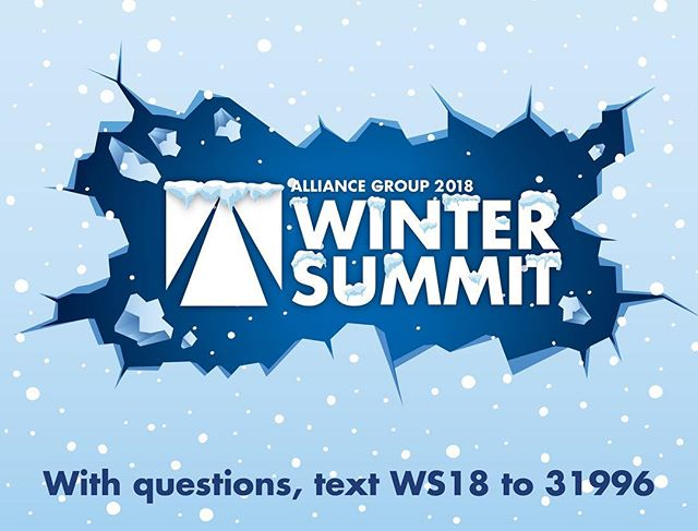 """If you're tuned in to our 2018 Winter Summit and have any questions pop up, shoot us a text! Text """"WS18"""" to 31996"""